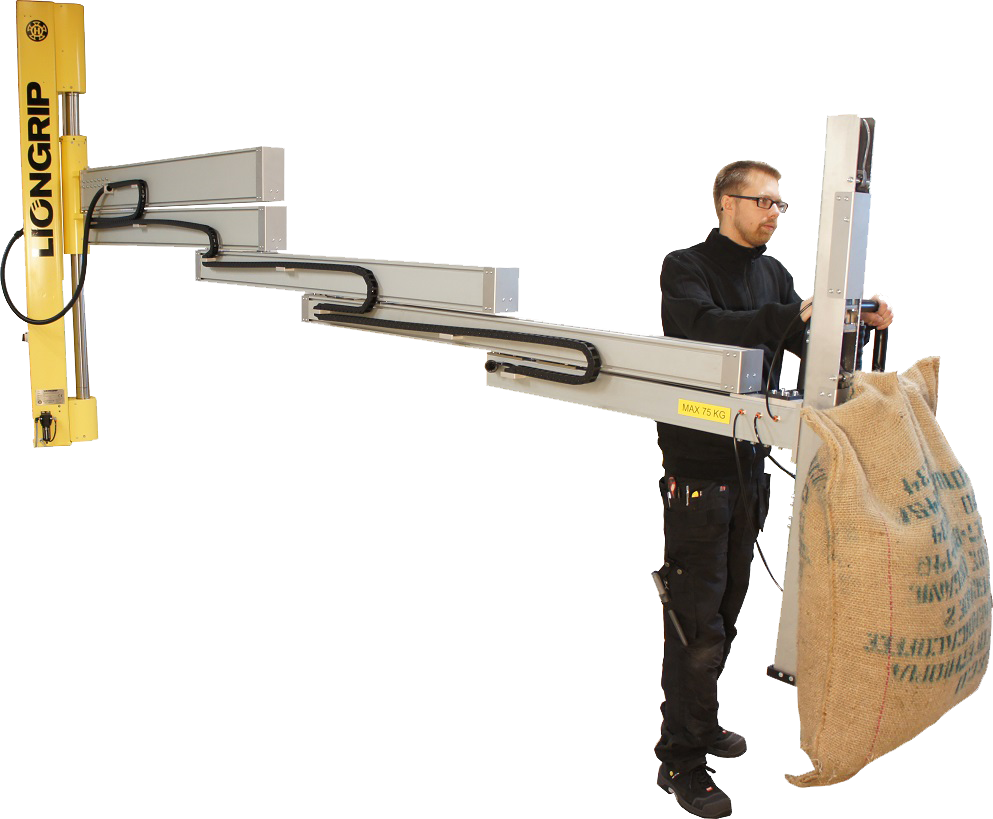A man holding the lifting device Telescopic Liongrip®