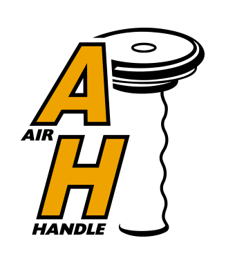 Tecknad logga med lyftredskapet Airhandle