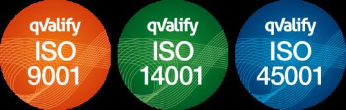 ISO certifierade inom miljöledning, kvalitetsledning och ledningssystem för arbetsmiljö